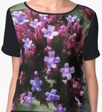 Tiny Purple Flowers Chiffon Top