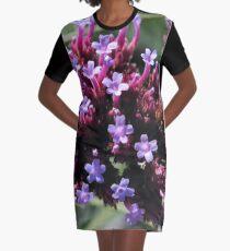 Tiny Purple Flowers Graphic T-Shirt Dress