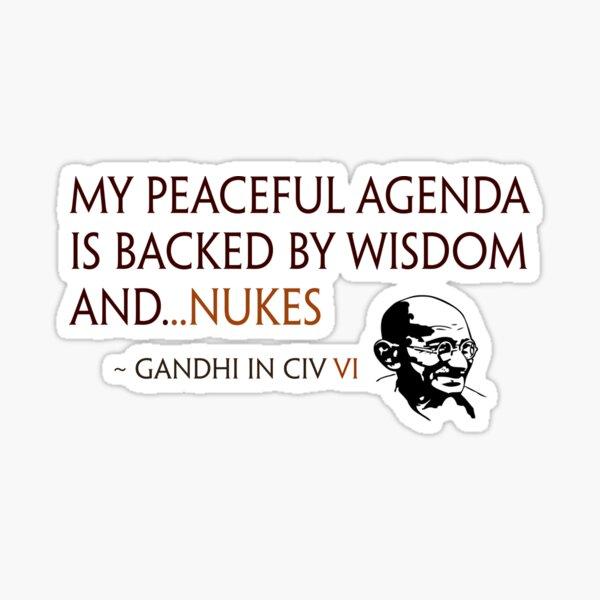 Gandhi Agenda Civ VI Sticker
