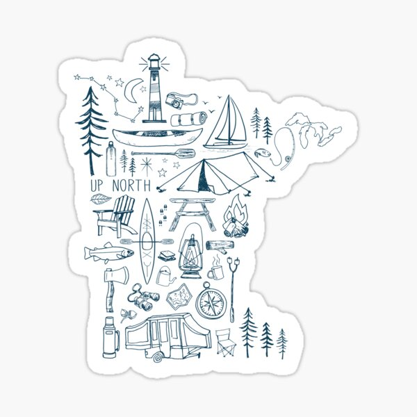 Minnesota Outdoor Collection Sticker