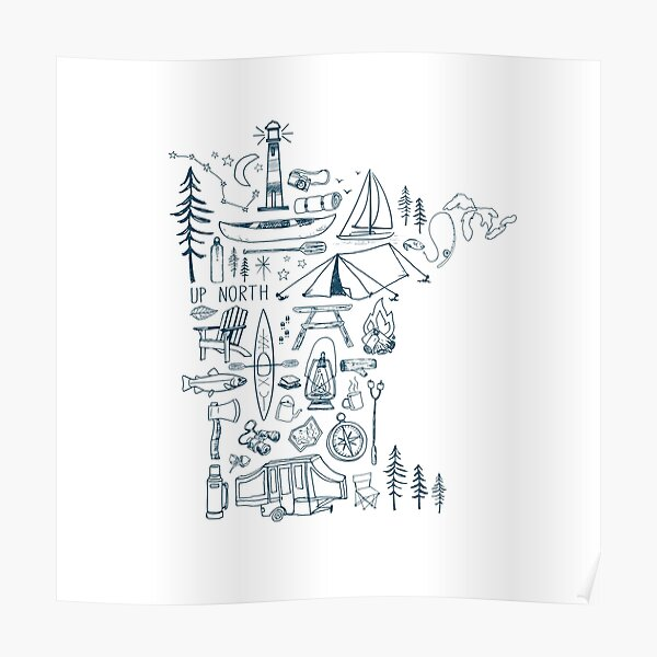 Minnesota Outdoor Collection Poster