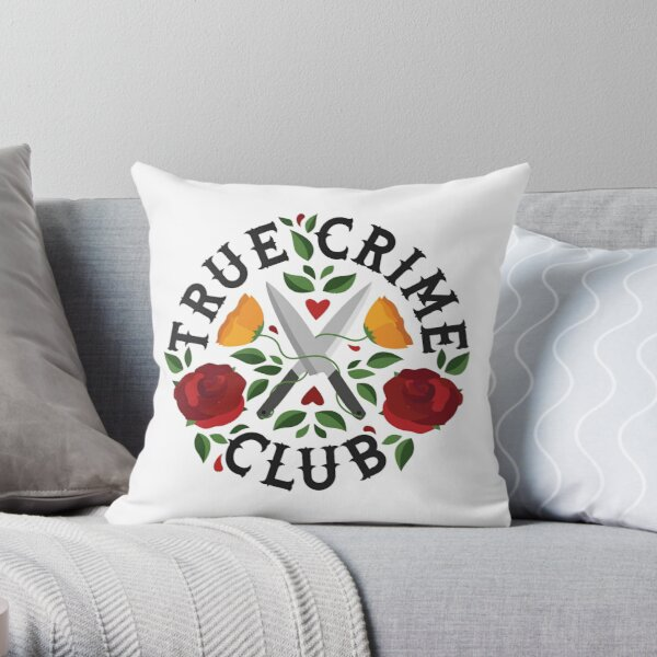 True Crime Club  Throw Pillow