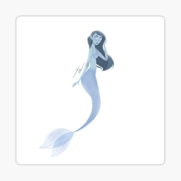 Mermay Blue mermaid Pegatina