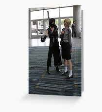 Two Cosplayers Greeting Card