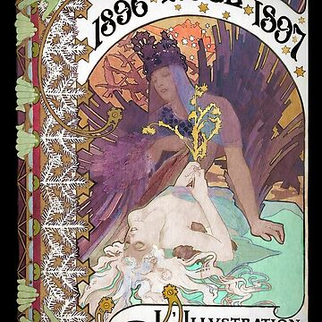 Art Nouveau Noel by Mucha  by dianegaddis