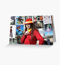 I found Carmen Sandiego Close-up Greeting Card