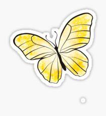 Gelber Schmetterling Sticker