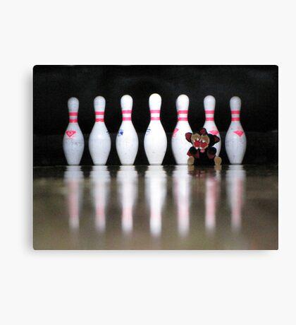 RnR Bowling w Zac ... strike or spare? Canvas Print