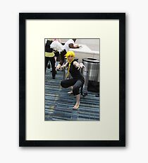 Stay away from my trash cans! Framed Print