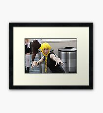 Stay away from my trash cans!  Close-up Framed Print