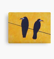 2 Rooks, 1 Wire Canvas Print