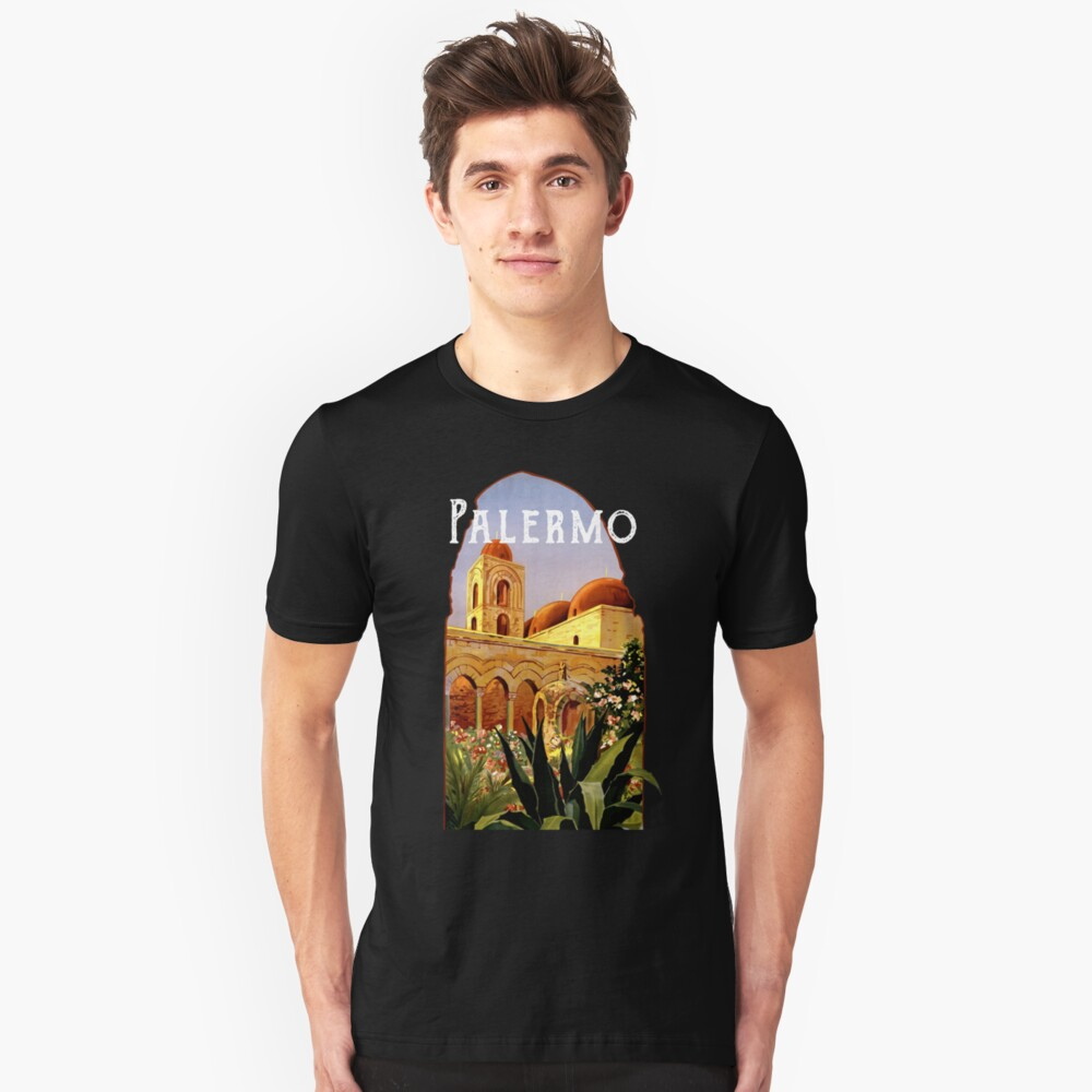 Sicily Palermo Vintage Italian Themed Sicilian Pride Slim Fit T-Shirt