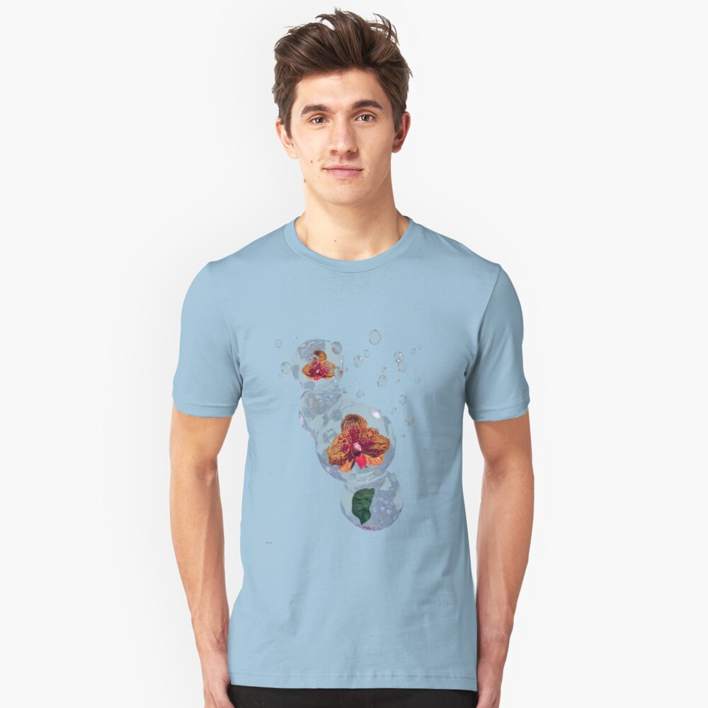 Wasser Orchidee Slim Fit T-Shirt