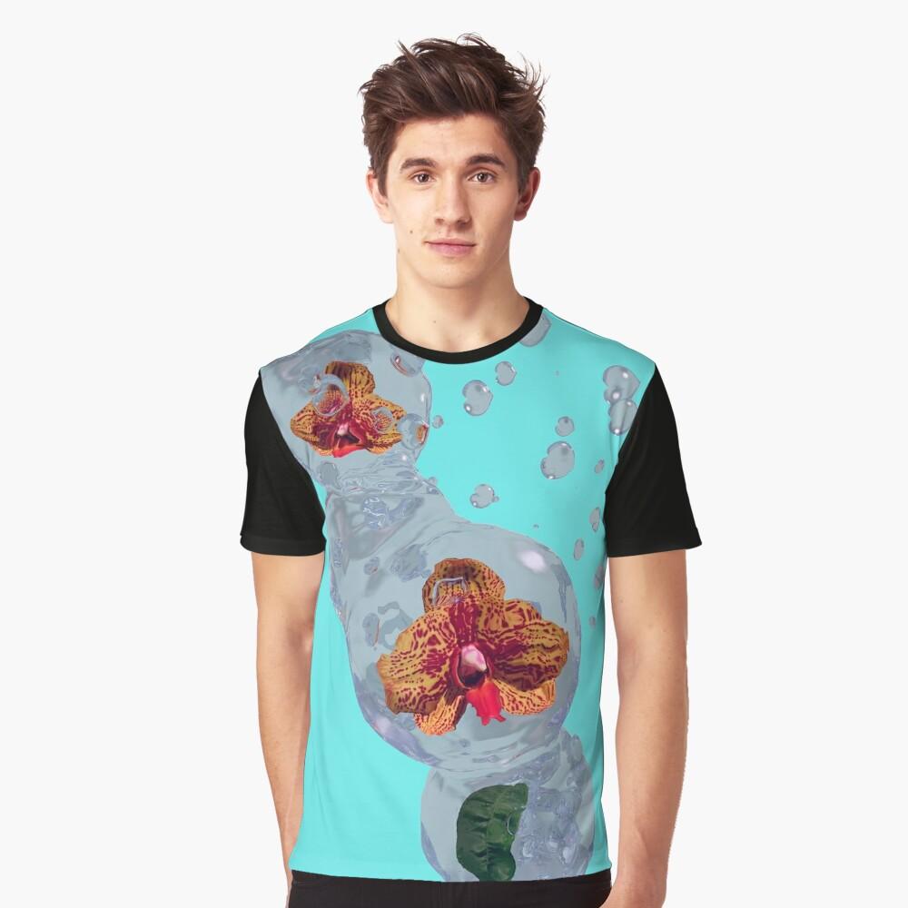 Wasser Orchidee Grafik T-Shirt