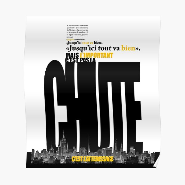La Chute et l'Atterissage Poster