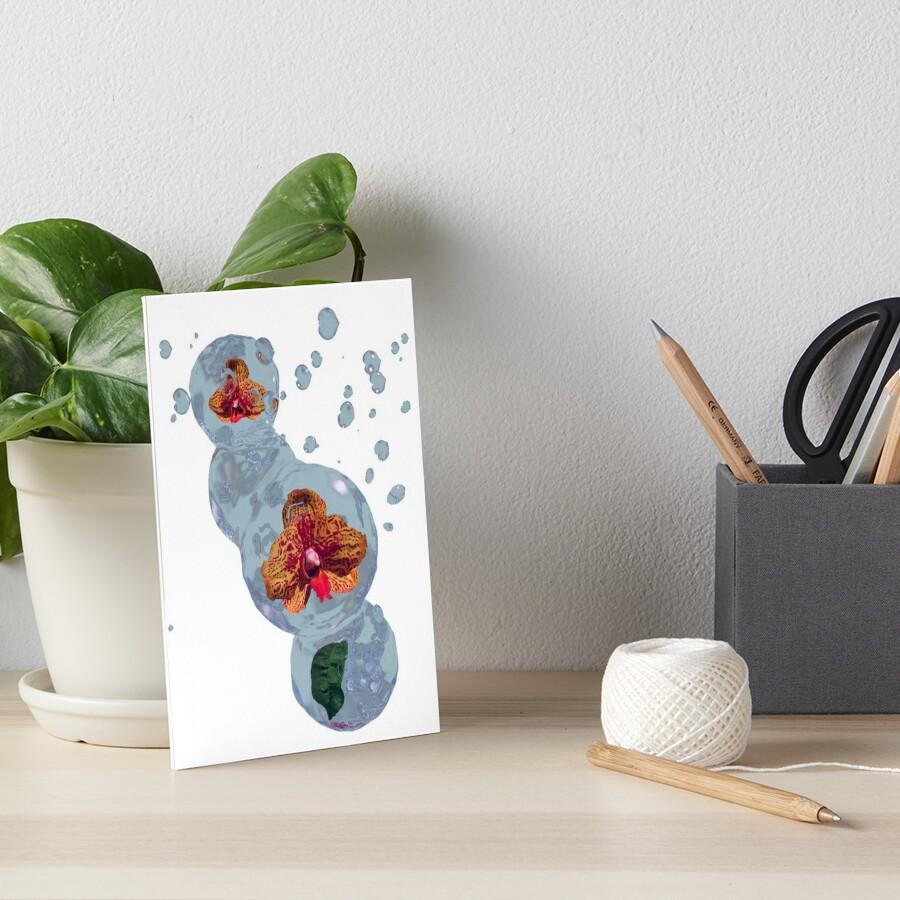 Wasser Orchidee Galeriedruck
