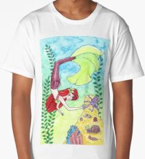 Mermaid and Octopus - Under the Sea Long T-Shirt