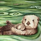 Cute Sea Otter by Watercolor Naturalist