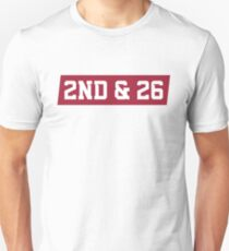 2nd And 26 - Red Unisex T-Shirt