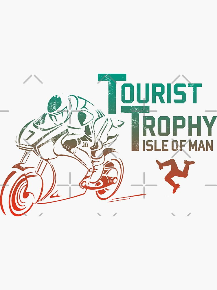 Isle Of Man TT Races Tourist Trophy Races Classic Vintage Neon Manx Isle Of Man by thespottydogg
