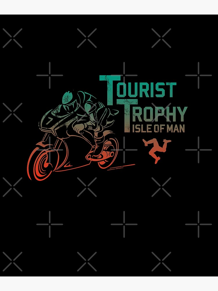 Isle Of Man TT Races Tourist Trophy Races Classic Vintage Neon Manx Isle Of Man by thespottydogg