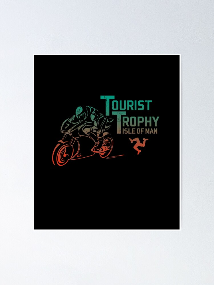 Alternate view of Isle Of Man TT Races Tourist Trophy Races Classic Vintage Neon Manx Isle Of Man Poster
