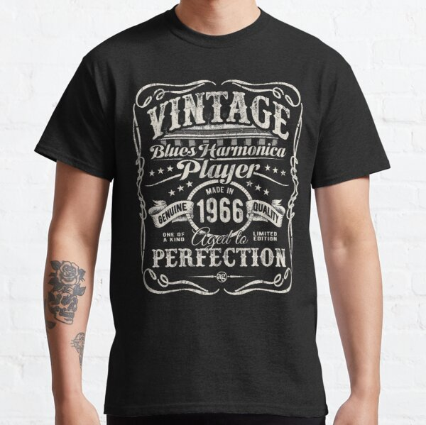 Adam Gussow's Vintage Blues Harmonica Player Made in 1966 Classic T-Shirt