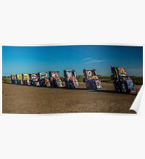 Cadillac Ranch in the Fall Poster