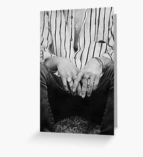 Harry hands Greeting Card