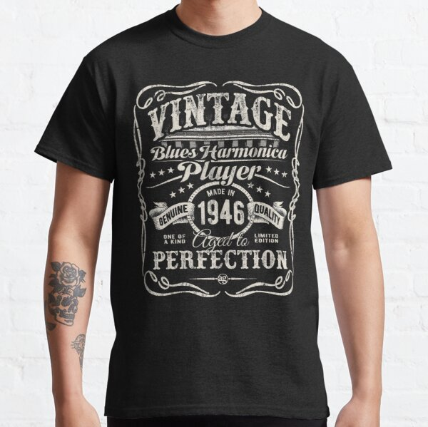 Adam Gussow's Vintage Blues Harmonica Player Made in 1946 Classic T-Shirt
