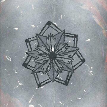 Abstract geometric flower (original design) by kavinski