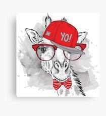 Hip Hop Giraffe Canvas Print