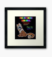 Free Cuteness and Hugs Framed Print
