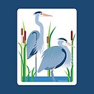 Great Blue Herons #1 by Desiree Smith