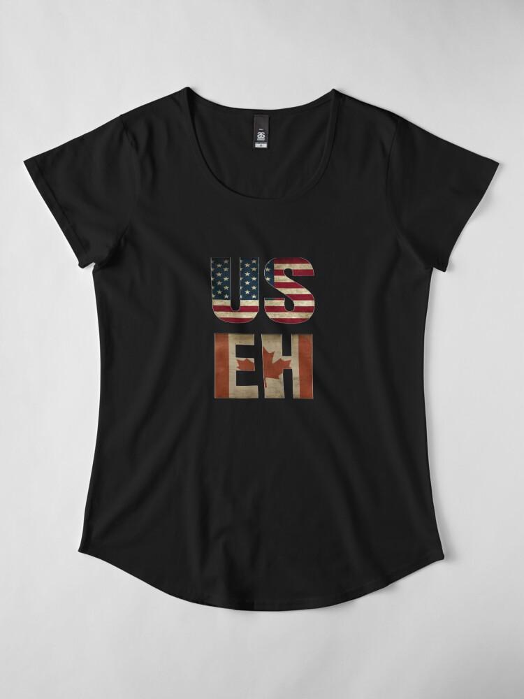 Alternate view of USA Canada Allies Premium Scoop T-Shirt