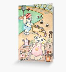 Nana and Poppy Pooky love to Garden Greeting Card