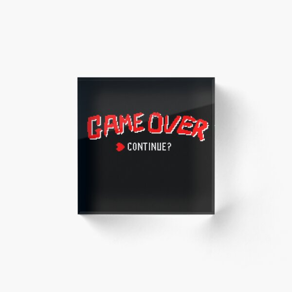 Game Over -Continue? Acrylic Block