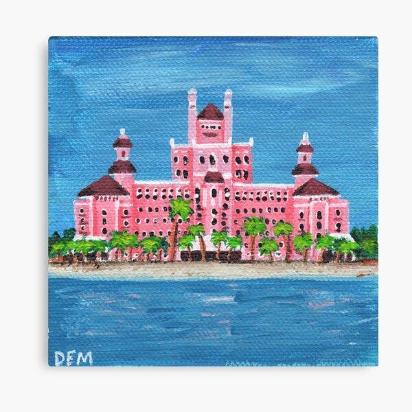 Pintura del hito de Florida, el hotel de lujo Don CeSar Lienzo