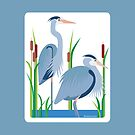 Great Blue Herons #2 by Desiree Smith