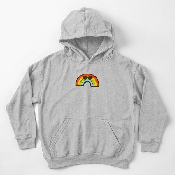 Cool Rainbow Pattern Kids Pullover Hoodie