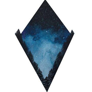 Starry Forest Skies by sophieclaflin