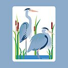 Great Blue Herons #3 by Desiree Smith