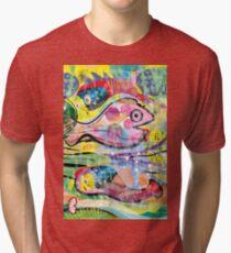 Seafood (Vertical) Tri-blend T-Shirt