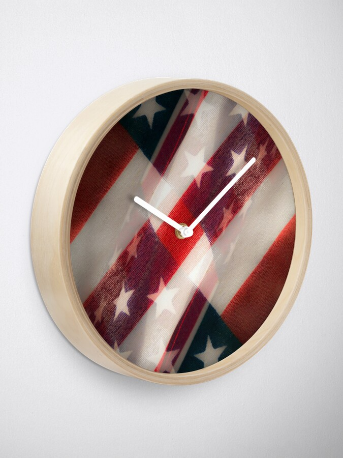 Alternate view of Stars And Stripes Clock