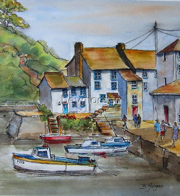 Polperro, Cornwall by bevmorgan