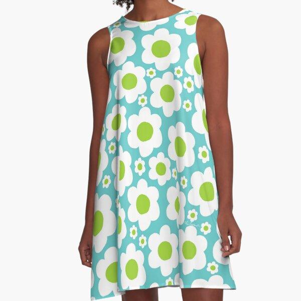 60's Pop Flower A-Line Dress