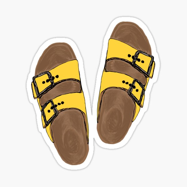 yellow birks Birkenstocks Sticker