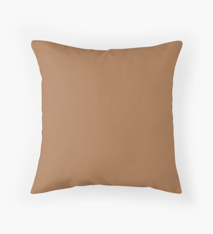 Meerkat | Pantone Fashion Color | Fall : Winter 2018 | New York and London | Solid Color Throw Pillow