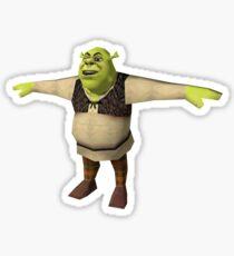 shrek is life t pose  Sticker