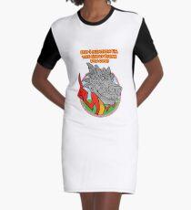 Great Stone Dragon Graphic T-Shirt Dress